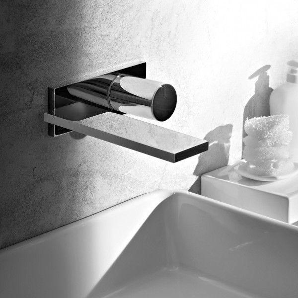 The Fantini Milano Wall Basin Mixer and Outlet represents an interpretation towards the future of tapware design; a clean, precise appearance suited to the ever-modern bathroom.