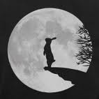Moon gazing hare tattoo. Guess how much I love you idea pops up here...