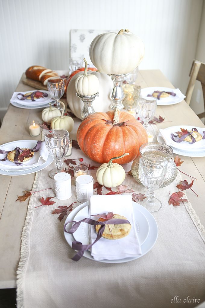 thanksgiving tablescape - Halloween Place Settings