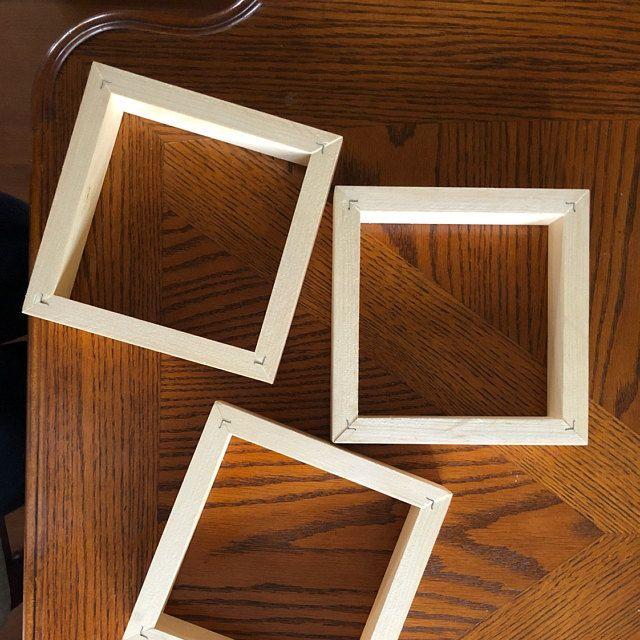 Tile Float Frames 8x8 Unfinished For Tiles Or Panels Sets Of Etsy In 2020 Box Frames Frame Floating Frame