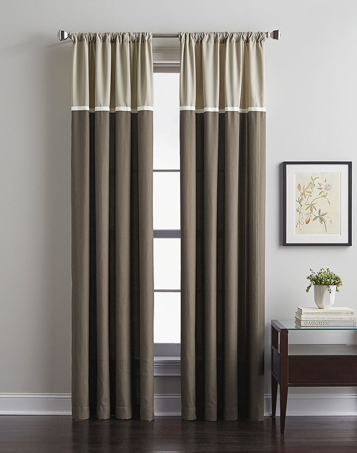 8 Best Panel Curtains Images On Pinterest: Accolade Color Block Curtain Panel / Curtainworks.com