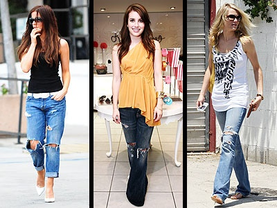 Various ways to dress up or dress down ur ripped denims...