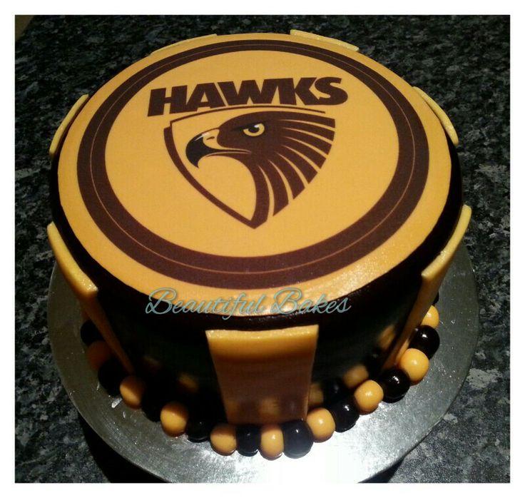 Hawthorn themed AFL cake :)