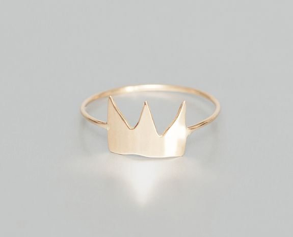 Bague Couronne Or A+ by Alphabeta en vente chez L'Exception