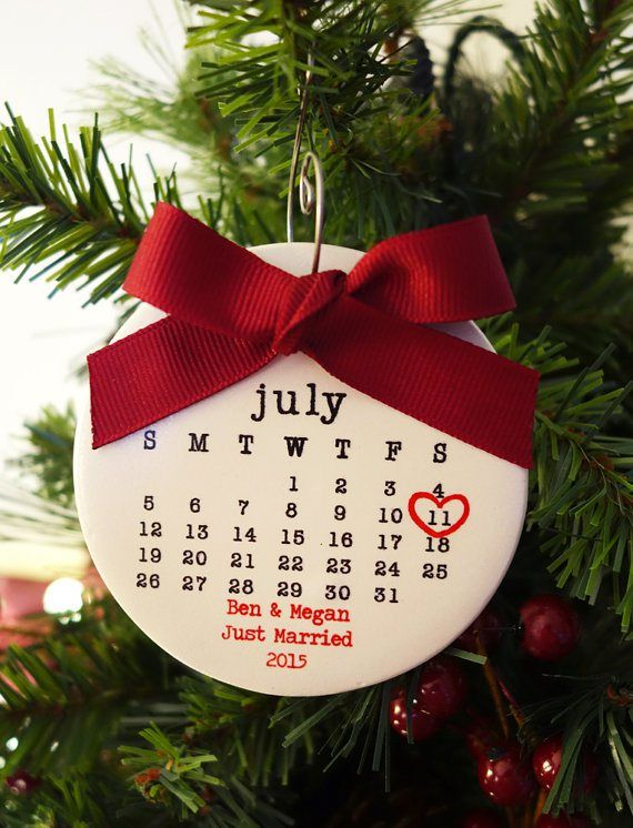calendar style first christmas married ornament by rachelwalter
