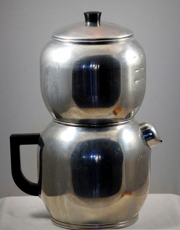 West Bend Kwik Drip Vintage Aluminum Stovetop Coffee Maker 16 Cup Gifts Pinterest Coffee ...