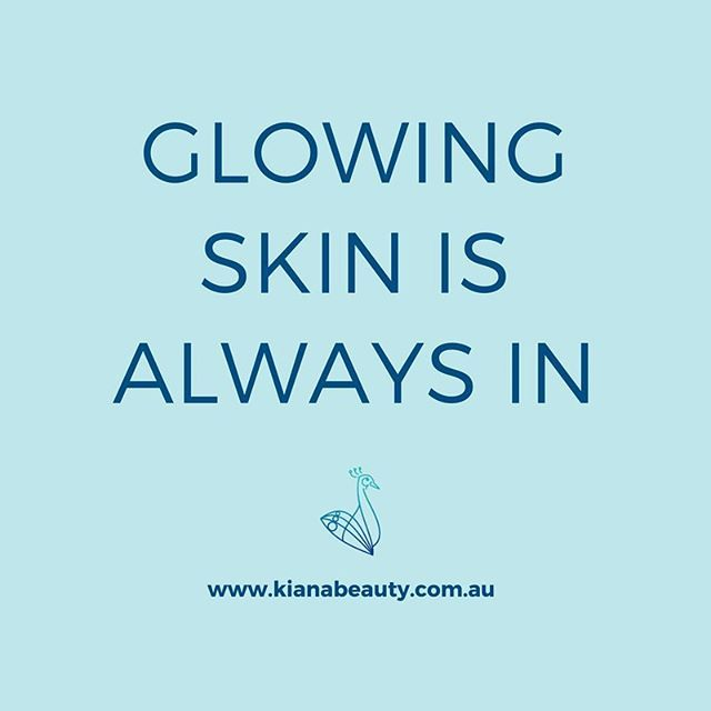Hope you've got your glow on today ✨ Glowing skin is always in. Now go out and smash this week