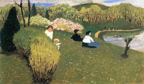 Felix Vallotton (1865-1925):  Kinder an einem Teich