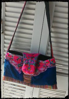 Zoe - scarves: Blue bag