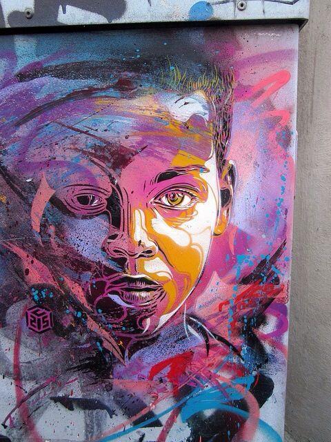 Beautiful work by street artist C215