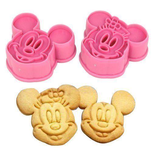 Accessotech 2 Teile Mickey & Minnie Kekse Ausstecher Formen Backware Zubehör