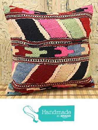 Handmade kilim pillow cover 16x16 Organic Wool Kilim pillow cover Decorative Kilim Pillow cover Kilim Ethnic Pillow cover Tribal Pillow Cover from Kilimwarehouse http://www.amazon.com/dp/B019CN4DYE/ref=hnd_sw_r_pi_dp_Xa.Bwb1JXDMJ1 #handmadeatamazon