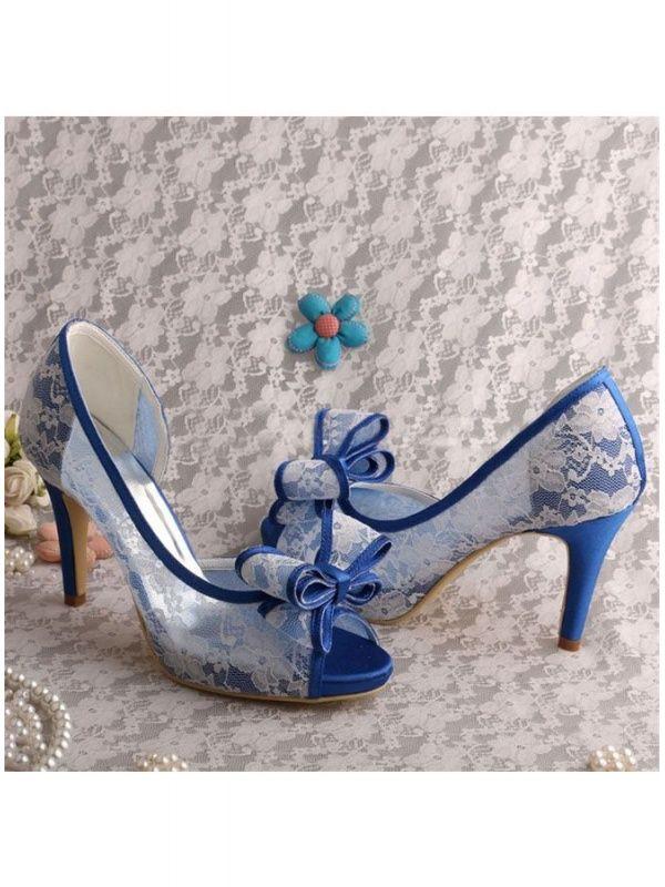 bordeggiare Blu innumerevole  Scarpe da Sposa e cerimonia blu con pizzo bianco | Scarpe da sposa blu,  Scarpe da sposa, Scarpe