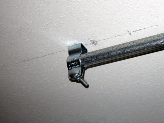 Hang Conduit Curtain Rods From The Ceiling Home