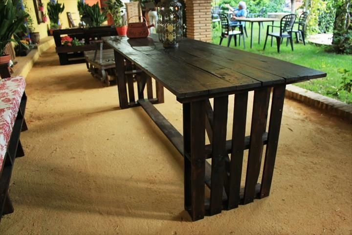 best 25 pallet dining tables ideas on pinterest dining Pallet Dining Room Table DIY Pallet Coffee Table