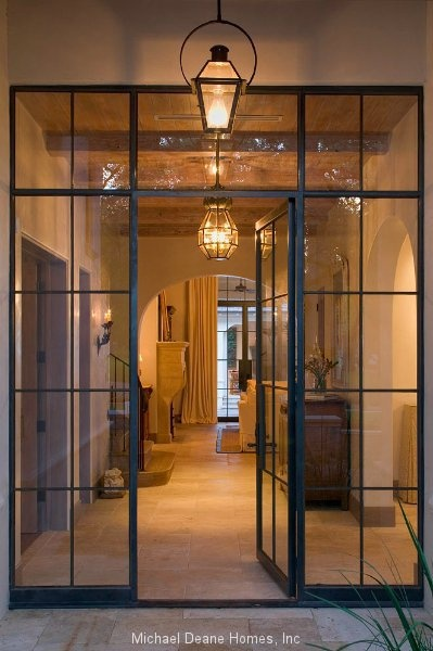 Love steel framed windows and doors, would look amazing as a shower enclosure in a bathroom