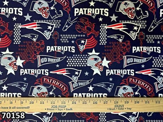 Nfl Logo New England Patriots Red Navy Cotton Fabric By Fabric Traditions 4 Options Choose Your New England Patriots Fabric New England