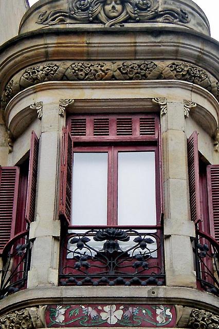 Ventana Art Deco en Gijon, Spaine