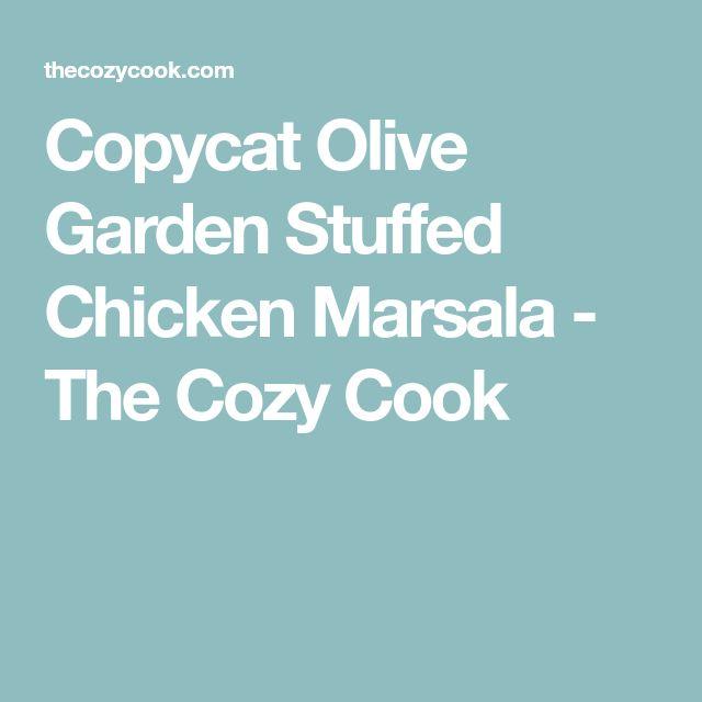 Copycat Olive Garden Stuffed Chicken Marsala - The Cozy Cook