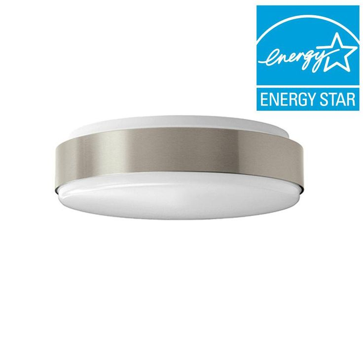 11 In. Brushed Nickel LED Round Ceiling Flushmount Light
