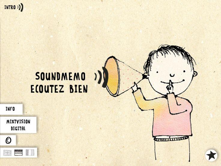 SoundMemo : un bien joli memory sonore [Apple] Illustrations Gabriella Sperotto