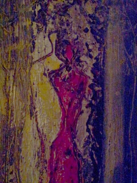 Moonlight walk' acrylic on canvas. By Tahmina Stenevik