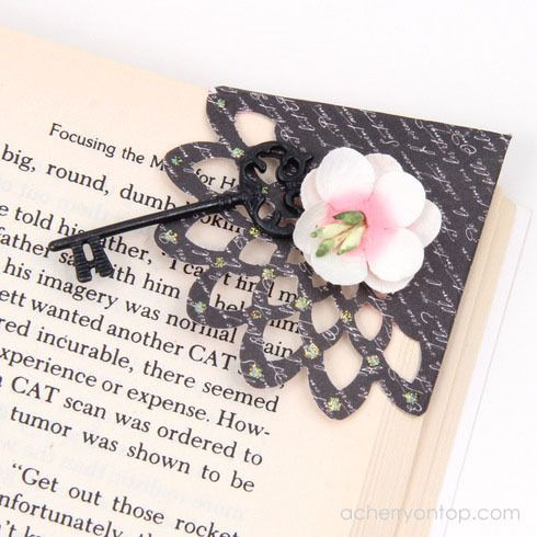 Create A Corner Bookmark: A Cherry On Top