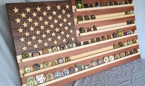 Here I built an American Flag coin rack and used the Shapeoko 2 to cut out the stars. You can also watch me built it at https://youtu.be/bAQvJZEG4bk
