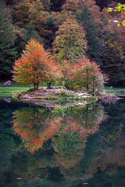 Lac de Bethmale, Ariege, Midi-Pyrenees, France