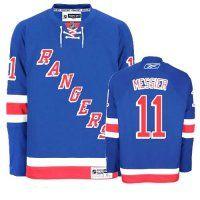 New York Rangers #11 Mark Messier Blue Home Premier NHL Jersey