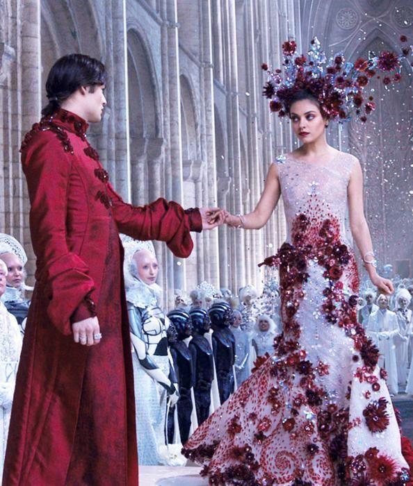 Jupiter Ascending (2015). Swarovskii crystal wedding dress. Costume Designer Tom Barrett.