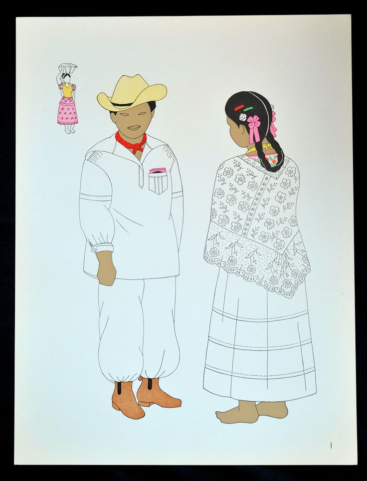 "https://flic.kr/p/sF4twD | Totonac Papantla Veracruz Mexico | This print depicts a Totonac man and woman from Papantla, Veracruz, Mexico. The woman is wearing a large lace quechquemitl cape. From ""El Traje Indigena en Mexico"" by Mozzi and Yturbide"