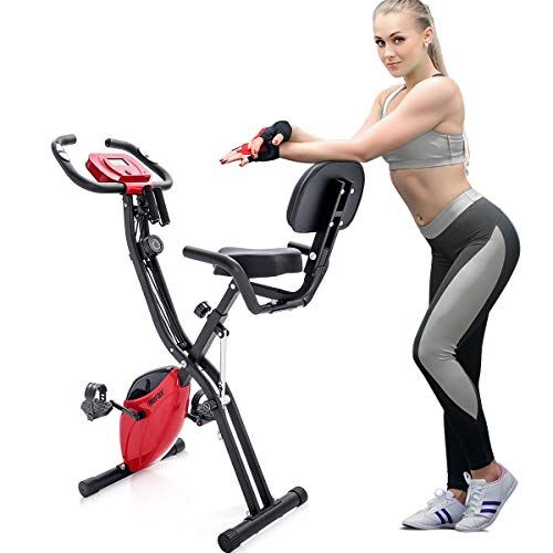 Merax Folding 3 In 1 Adjustable Exercise Bike Convertible Magnetic