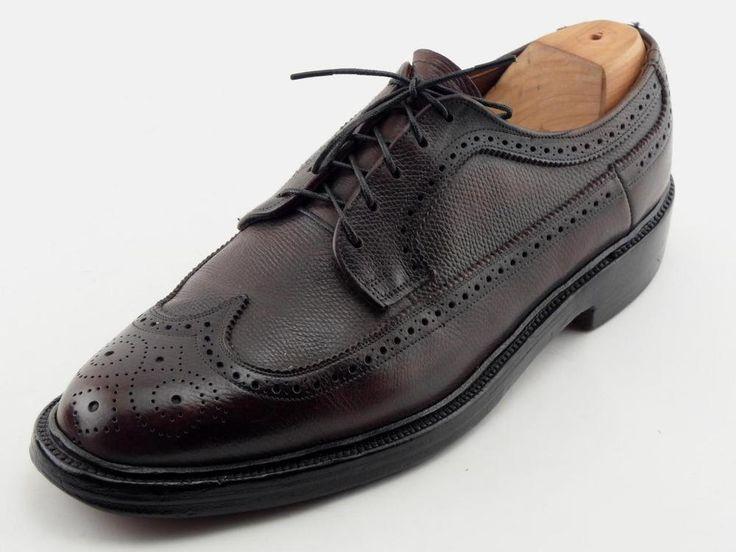 FLORSHEIM IMPERIAL The Worthmore Brown Pebbled Wingtip Blucher Oxfords Shoes 9 C #Florsheim #Oxfords