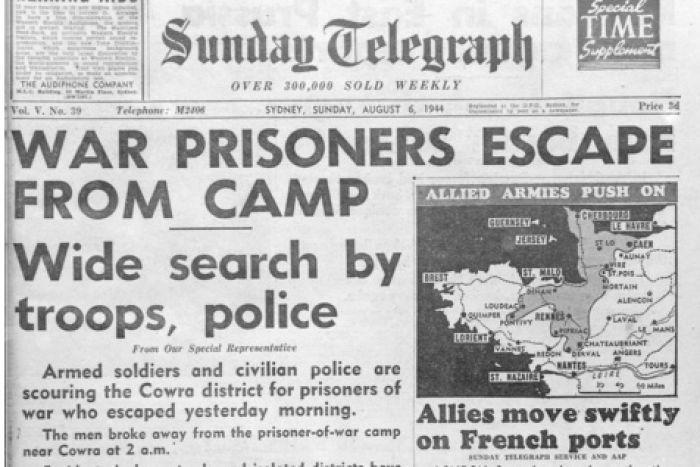 Sunday Telegraph coverage of the Cowra breakout. #DarkHeritage