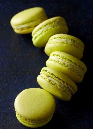 Macaron citron vert basilic