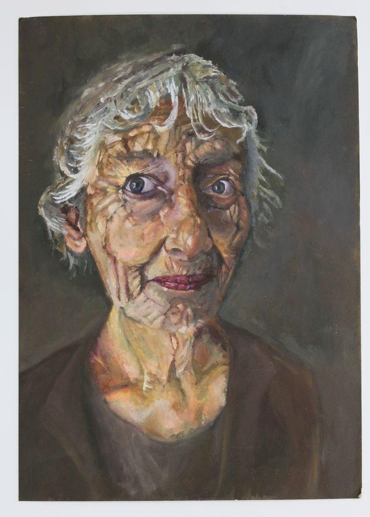 A2 Fine Art, A3 Mountboard Oil Painting, Development, CSWK Theme 'Flaws…