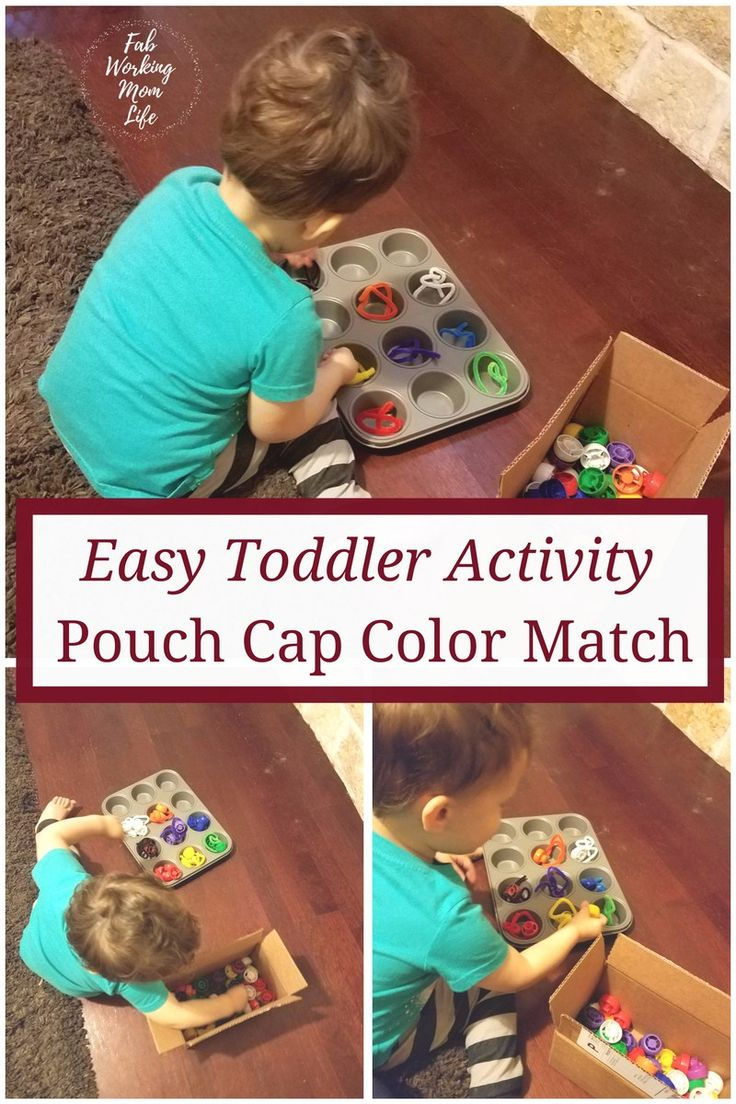 Easy Toddler Activity Pouch Cap Color Match | Fun activity for your two-year-old