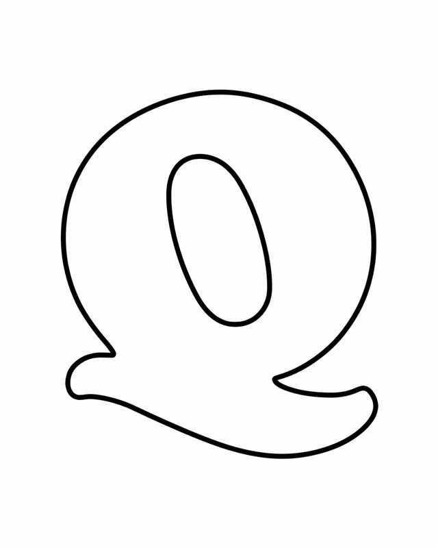 Letter Q - Free Printable Coloring Pages