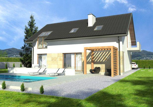 Projekt domu LIM House 07 (TQA-868) - 116.79m². Sprawdźcie rzuty projektu!