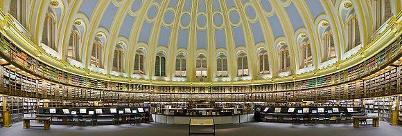 Sala de Lectura del Museo Británico de Londres (the British Museum)