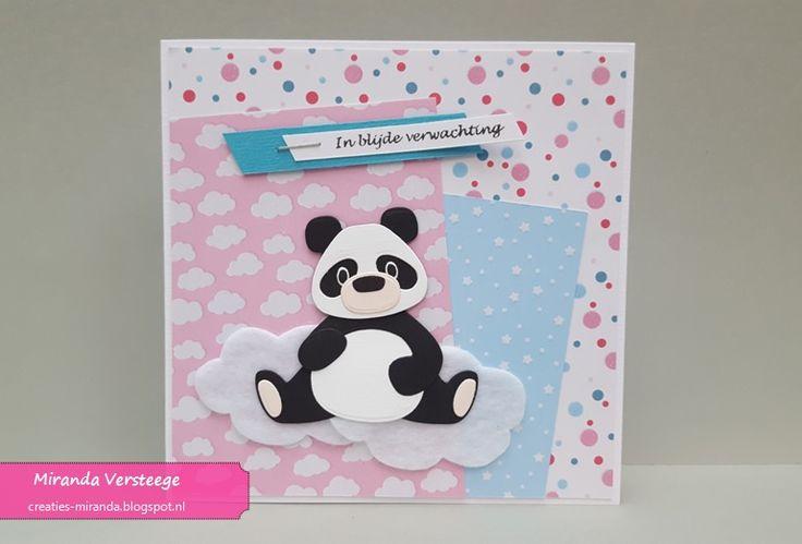 Ook zwangerschapskaarten komen aan bod tijdens deze  Baby-5-daagse . Drie zelfs! Een primeurtje voor mijn laatst aangeschafte pandabeer. T...