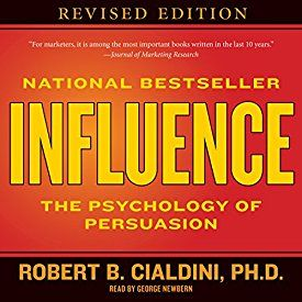 """Another must-listen from my #AudibleApp: """"Influence: The Psychology of Persuasion"""" by Robert B. Cialdini, narrated by George Newbern."""