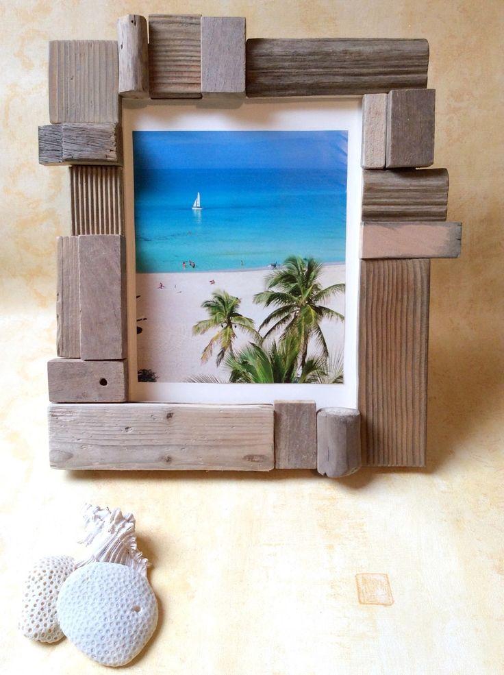 les 42 meilleures images propos de cadres en bois flott. Black Bedroom Furniture Sets. Home Design Ideas
