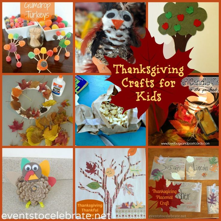 9 Thanksgiving Crafts for Kids! - events to CELEBRATE!