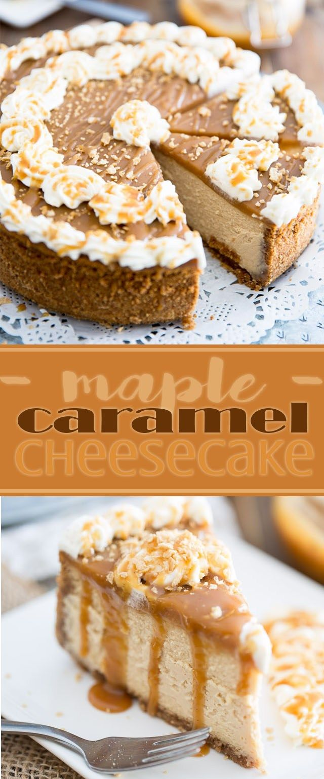 Salted Maple Caramel Cheesecake