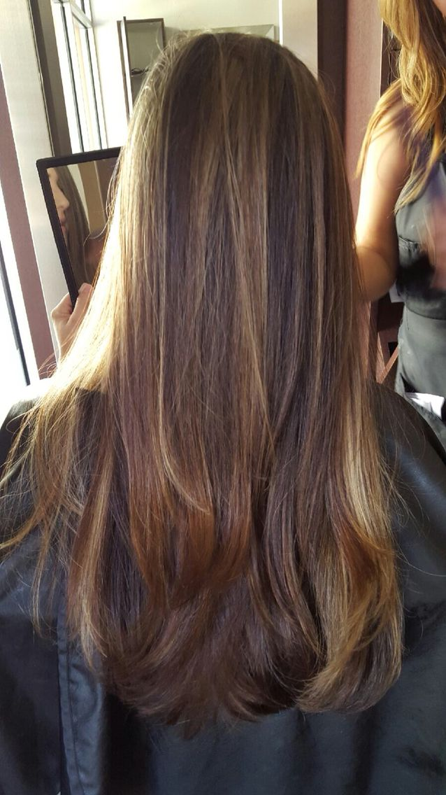 Partial caramel highlights. | Highlights for dark brown ...