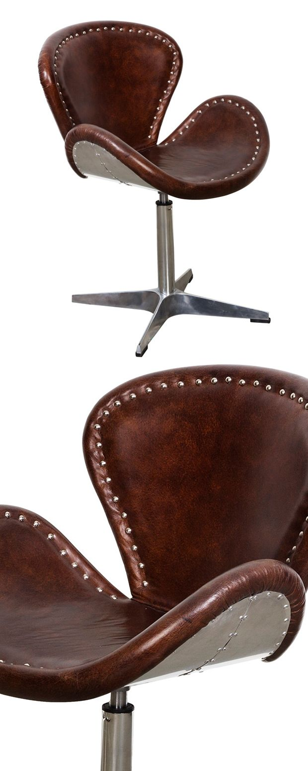 Yee-haw! You can take this Cattle Call Leather Swivel Chair out of the rodeo but you can't take the rodeo out of the chair. With its stunningly…