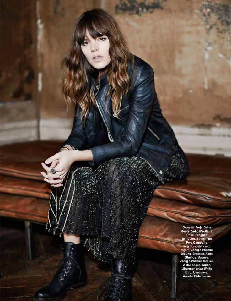 Rock 'n' Roll Style ✯ rock and folk: freja beha erichsen by fred meylan for glamour france august 2014