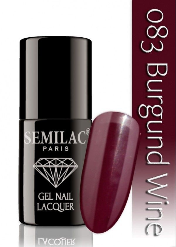 Semilac 083 Burgund Wine UV&LED Nagellack. Auch ohne Nagelstudio bis zu 3 WOCHEN perfekte Nägel!